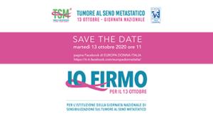 Giornata nazionale per il tumore al seno metastatico